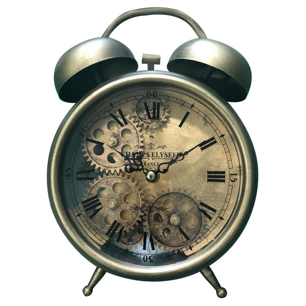 Rustic Analog Table Clock Tabletop Clocks Rustic Tabletop Clock