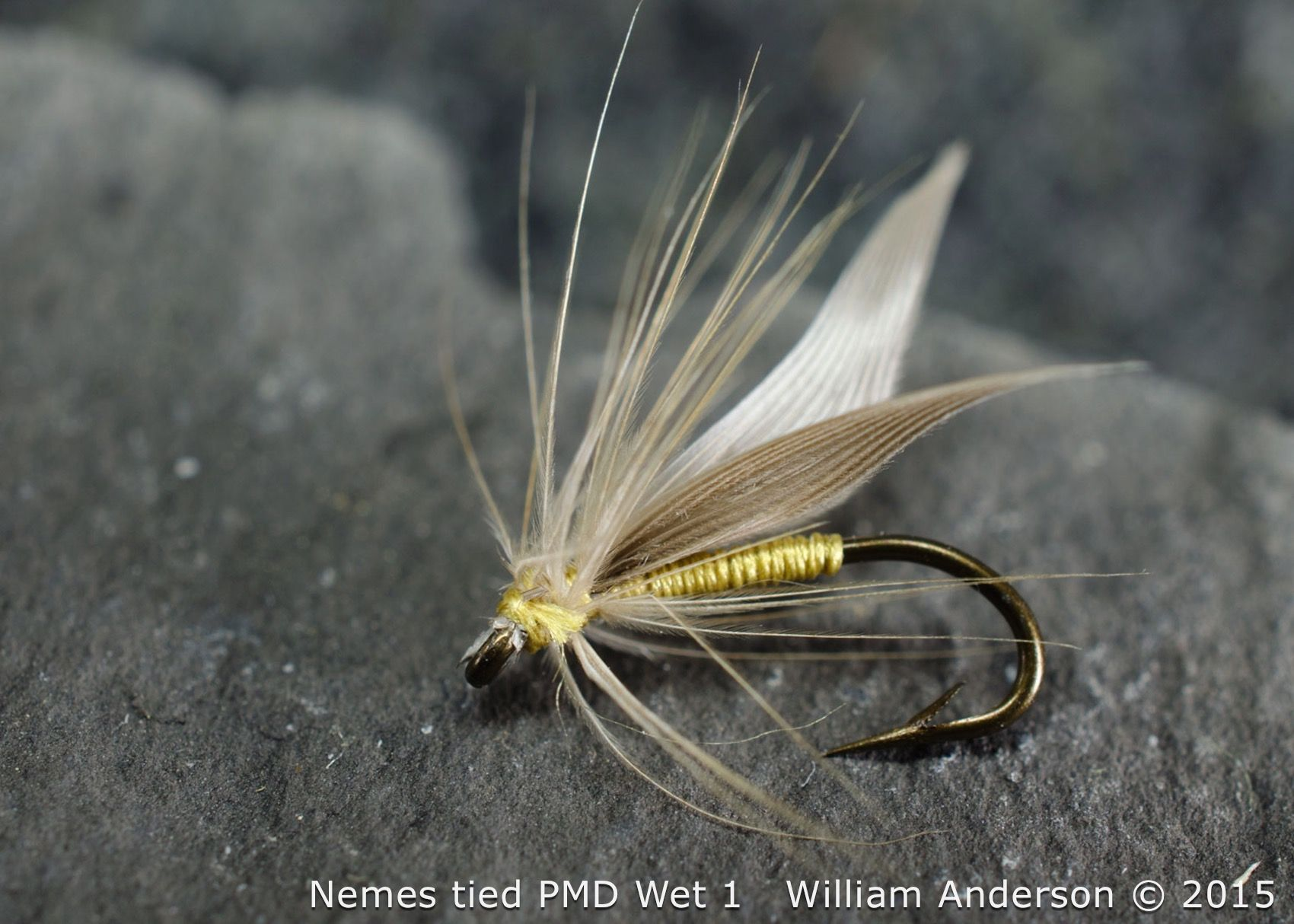 Sylvester Nemes original tied flies. A PMD wet fly imitation. Soft-Hackle Flies, North Country Spiders, Nemes Patterns. WilliamsFavorite.com