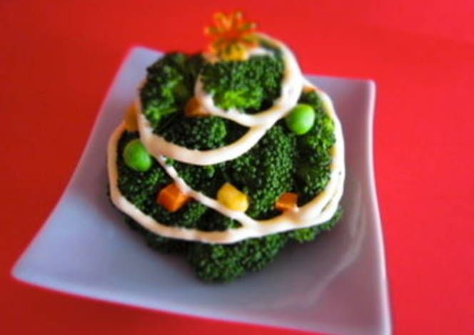 Broccoli Christmas Tree and Wreath Recipe -  Yummy this dish is very delicous. Let's make Broccoli Christmas Tree and Wreath in your home!