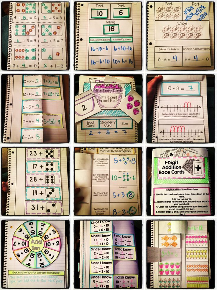 Interactive Notebook 1st Grade Ccss Operations And Algebraic