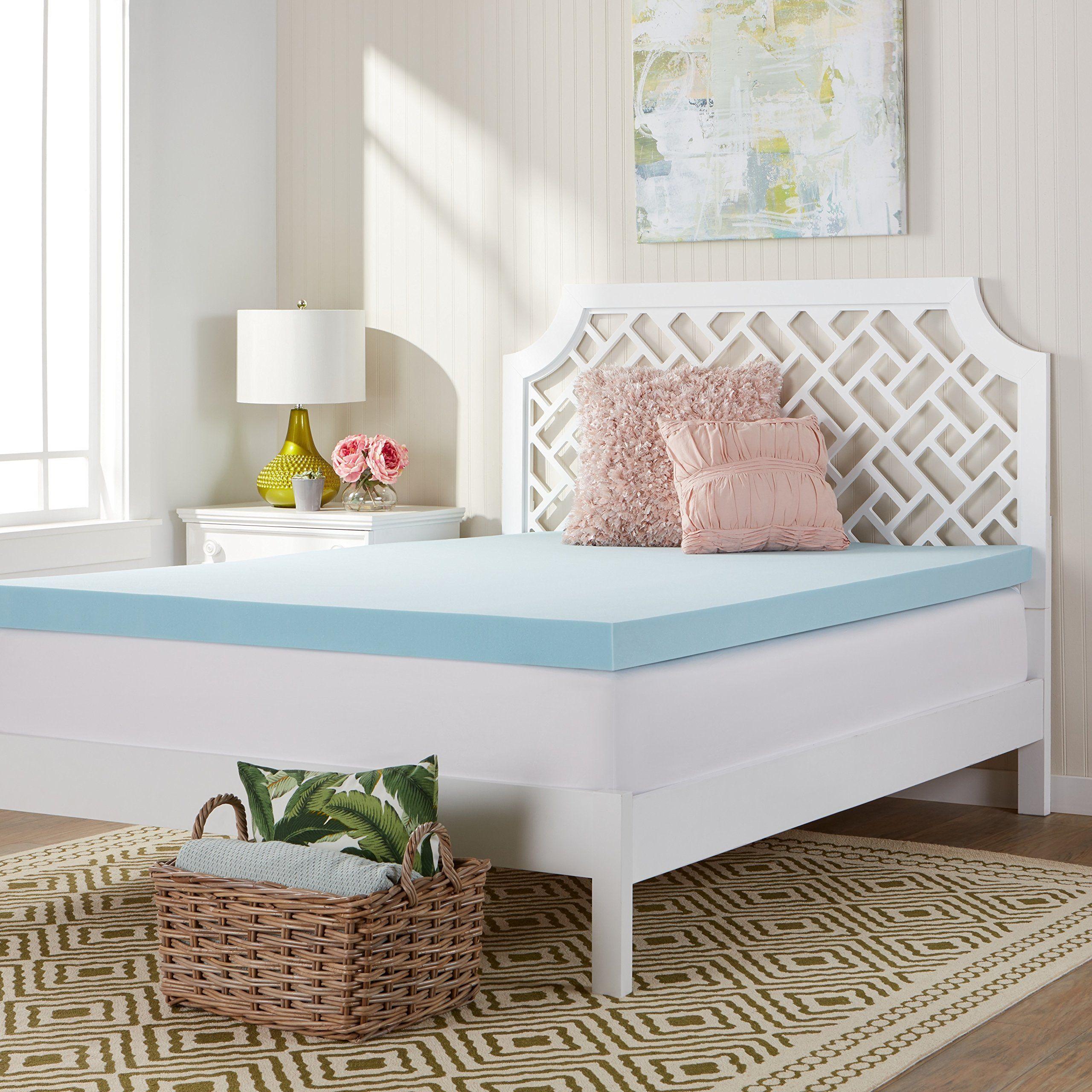 comfort dreams memcool 3inch memory foam mattress topper king