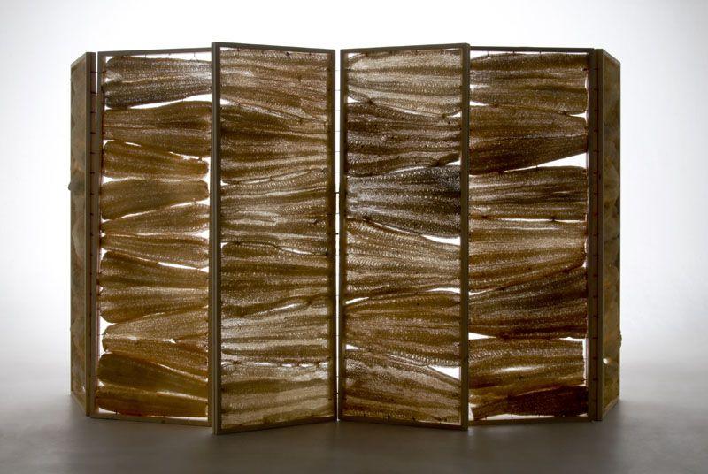 translucent dividers / Lufa series by Mexican designer Fernando Laposse