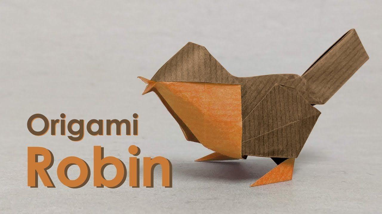 Lampada Origami Istruzioni : Origami bird tutorial robin david brill origami
