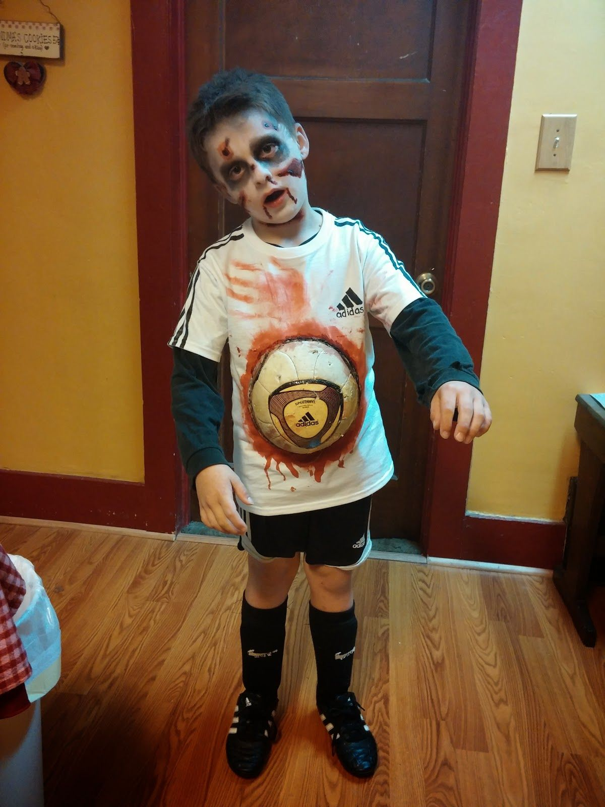 Livin Generic Zombie Soccer Play How To Halloween Costume Scary Halloween Costumes Boys Scary Halloween Costumes Scary Halloween Costumes Diy