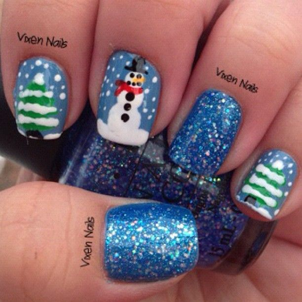 Winter Themed Nail Art Photo By Vixennails Nail Colors Winter