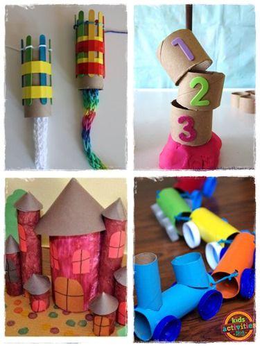 60 bricolages avec des rouleaux de papier toilette brico recyclage pinterest papier. Black Bedroom Furniture Sets. Home Design Ideas