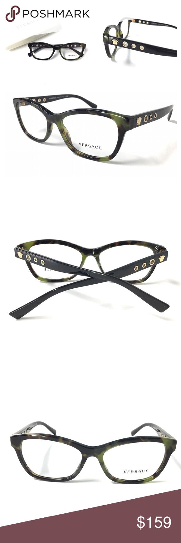 5dbbc02324cd VERSACE Women s Eyeglasses Olive Tortoise NWOT!!! VERSACE Women s Eyeglasses  Optical Frame Olive Tortoise