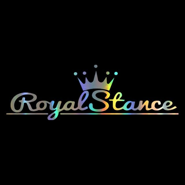 Car Sticker 12 37 3cm Letter Print Royal Stance Decal Reflective Laser 3d Car Stickers Vinyl Car Styling Black Car Stickers Family Stickers Car Stickers Funny