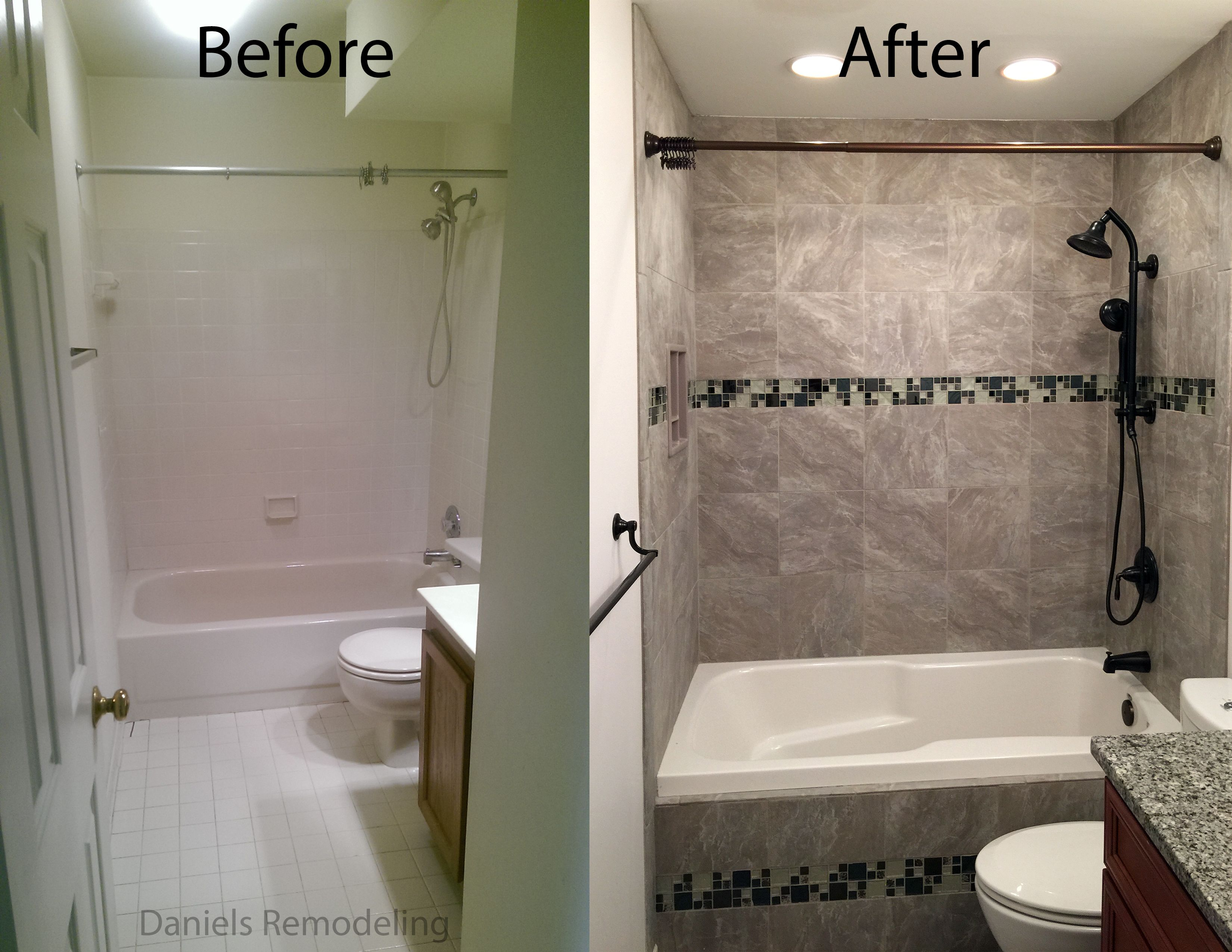 Before And After Hall Bathroom Remodel Alexandria Virginia Alluring Virginia Bathroom Remodeling Decorating Design