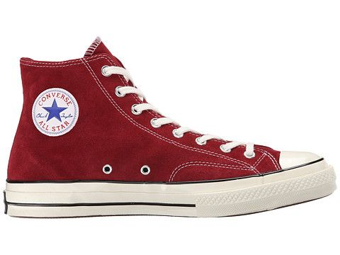 7c138689d96b61 Converse Chuck Taylor® All Star® 70 Hi Suede Red Dahlia Black Egret -  Zappos.com Free Shipping BOTH Ways
