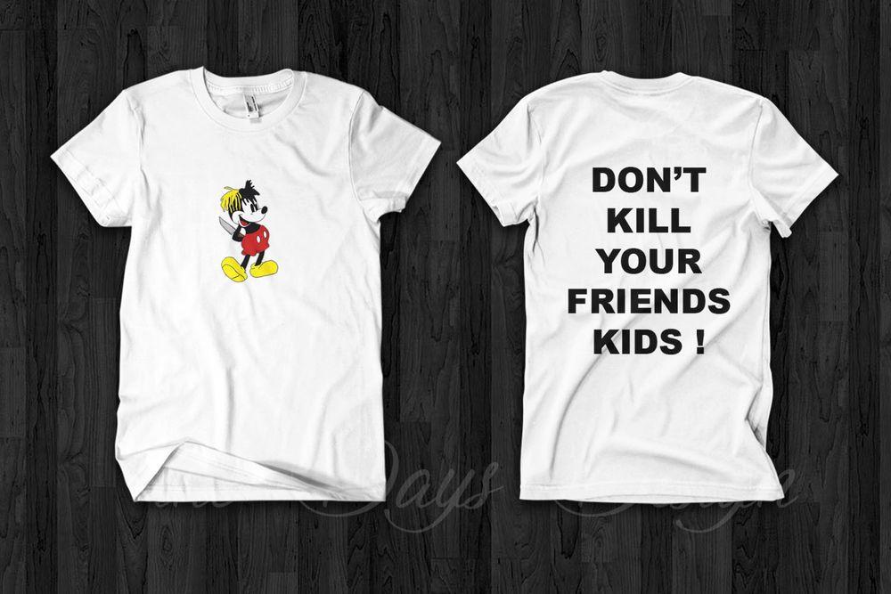 Don/'t Kill Your Friends XXXTENTACION Men/'s Black Tees Shirt Clothing