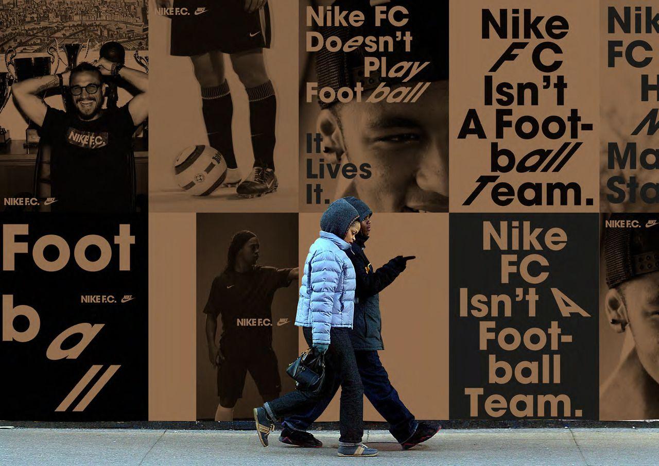 Poster design jeans - Hort Nike F C