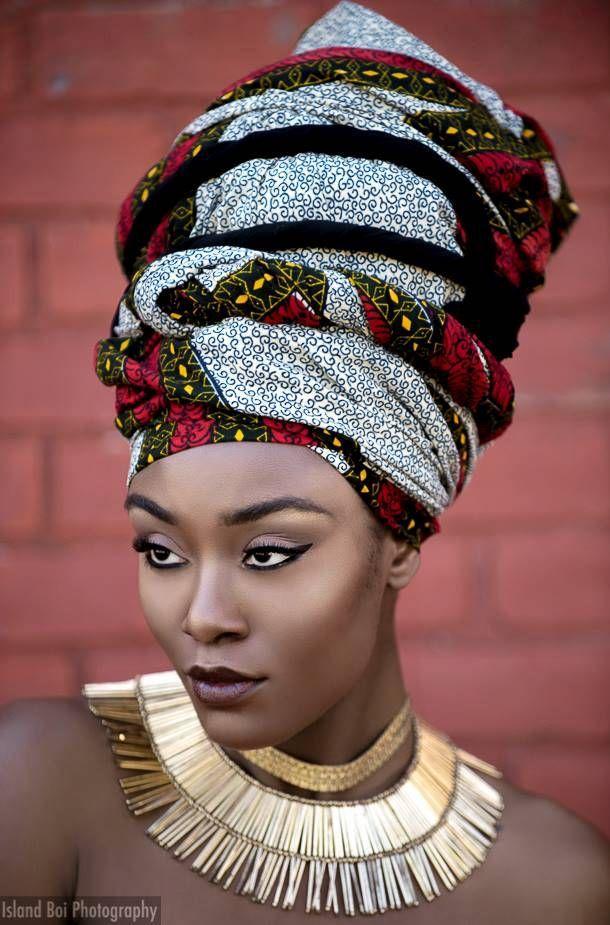 L'art du turban Filles noires, Coiffure avec foulard et