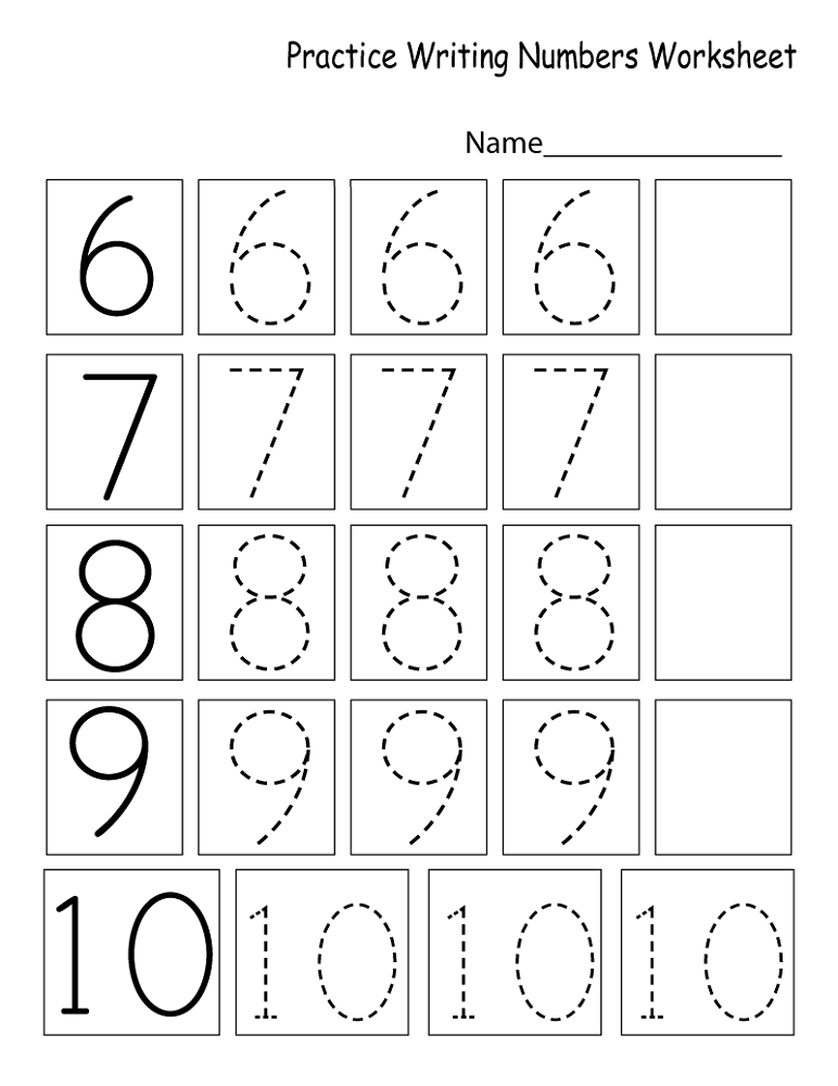 Writing Numbers Worksheet Kids Learning Activity Kindergarten Math Worksheets Free Kindergarten Math Worksheets Preschool Math Worksheets