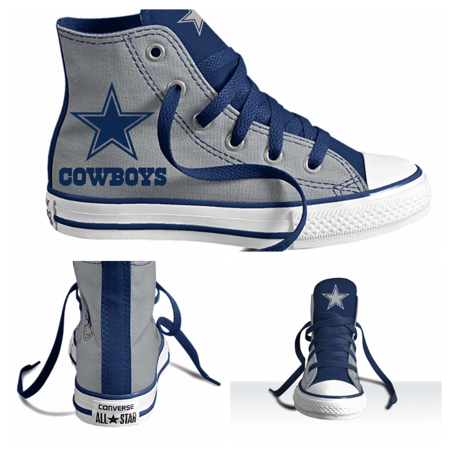 1a5d442a087 Custom Dallas Cowboy Chuck Taylors Converse Shoes | Dallas Cowboys ...