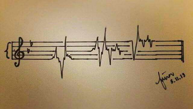 Awesome for a tattoo and I feel like this is what my heartbeat looks like.