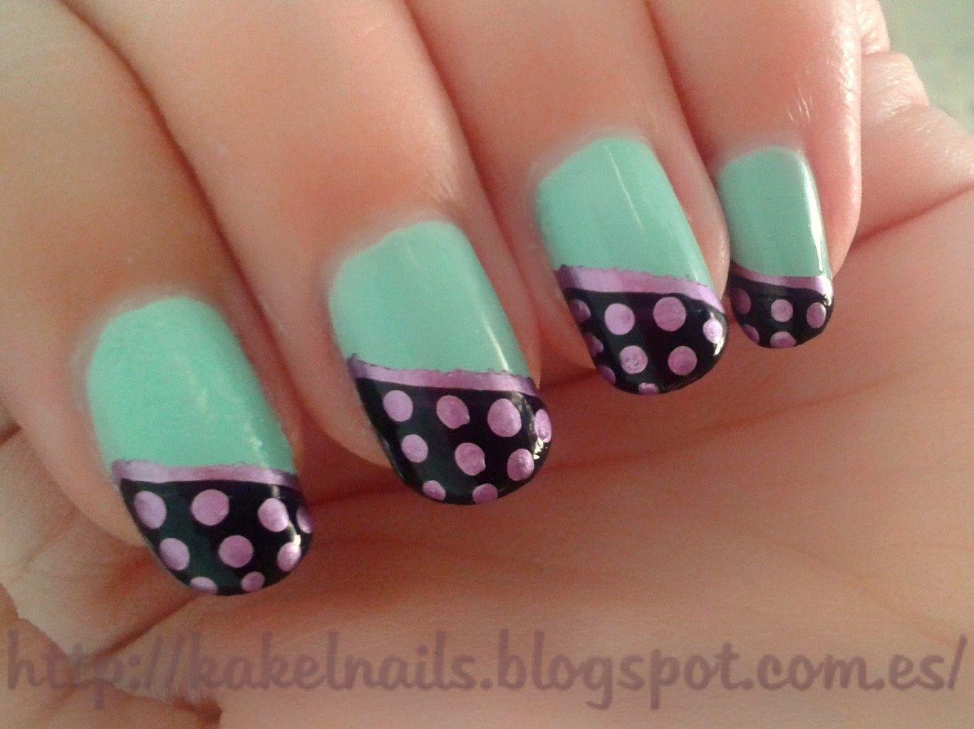 Polka dots finger nail art wala pinterest finger nail art