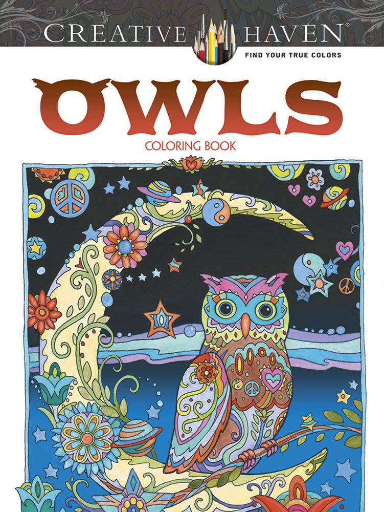 Dover Creative Haven Owls Coloring Page Example