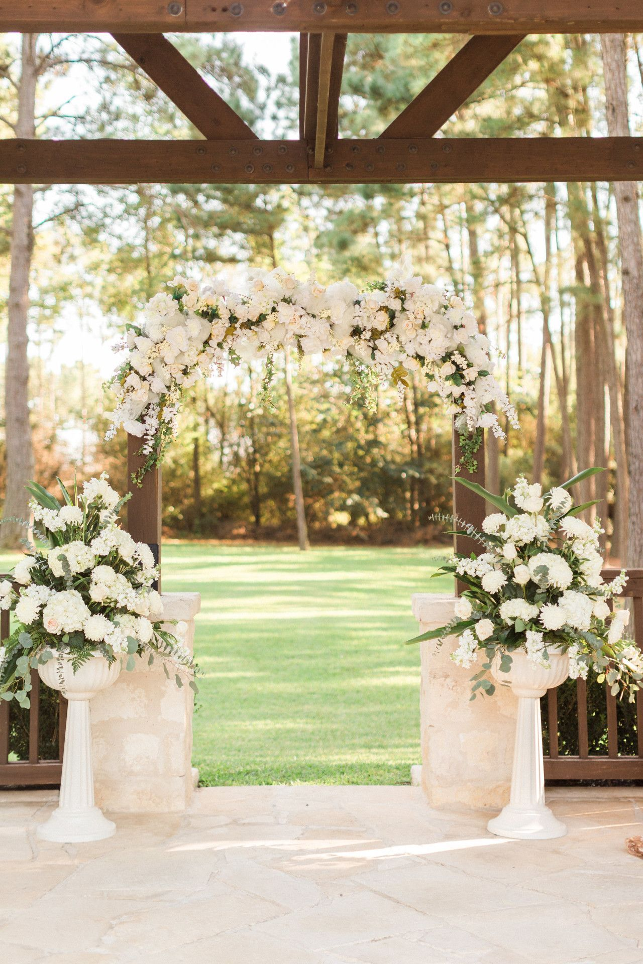 White wedding decoration ideas  blush pink  white wedding arch decor  elegant wedding arch