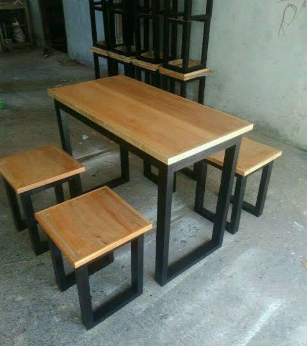 Model Kursi Cafe Furniture Industrial Kayu Jati Terbaru