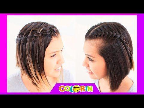 Imagen de trenzas en cabello corto