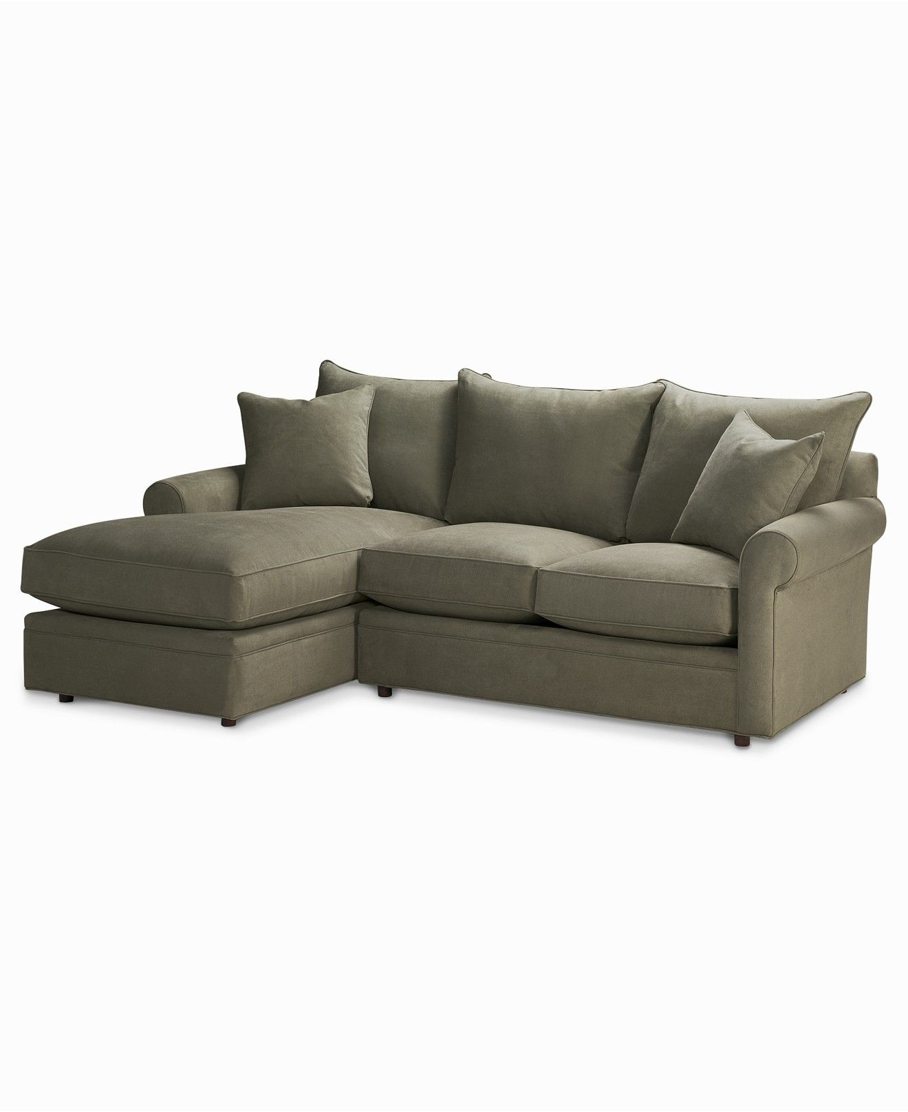 Doss Fabric Microfiber Sectional Sofa, 2 Piece (Loveseat & Chaise ...