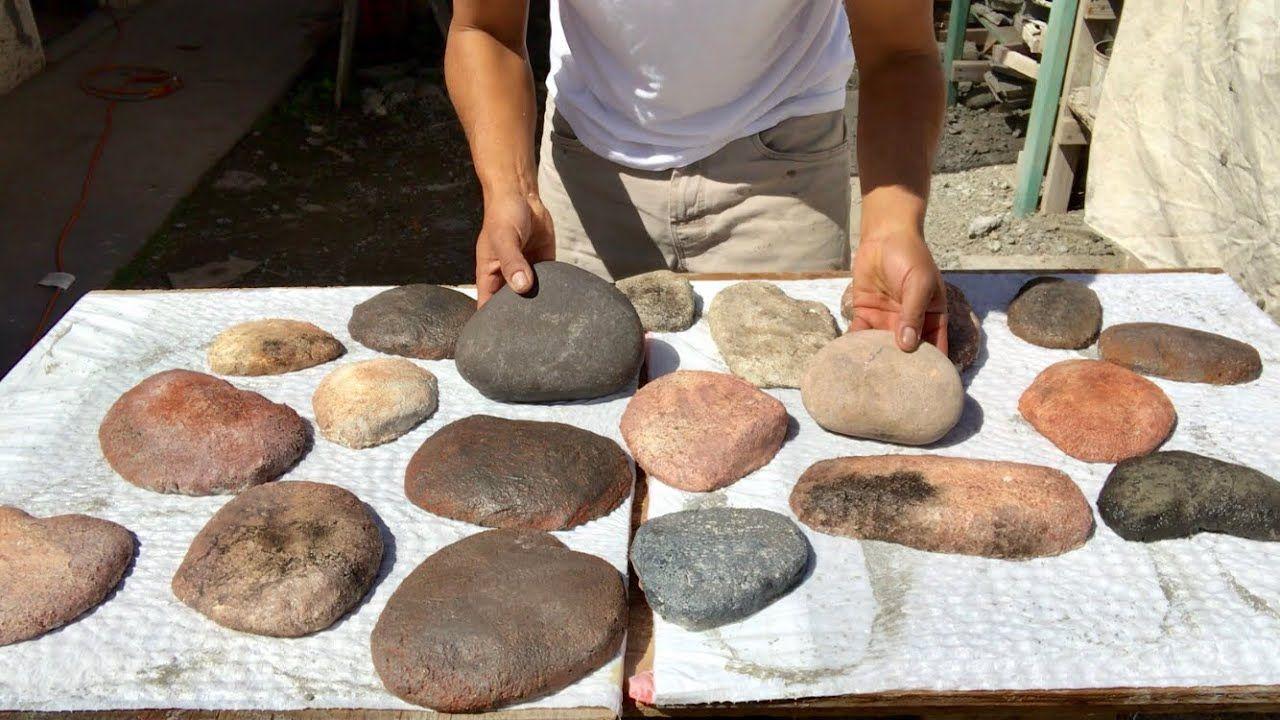 Como Hacer Replicas Rocas De Rio Para Fachadas Making Faux River Rocks Rocas De Río Escalones De Piedra Maceteros De Piedra