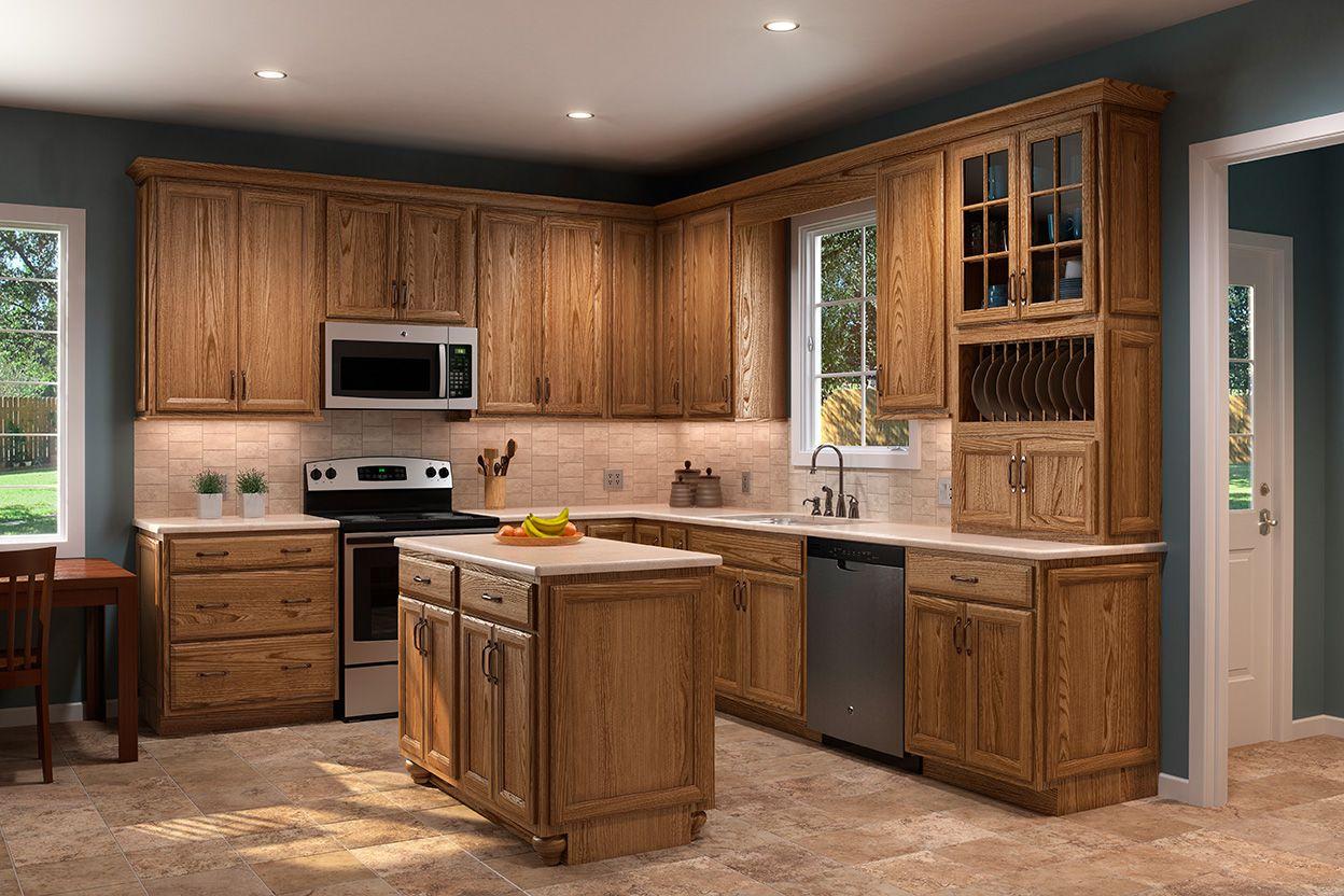 Shenandoah Cabinetry Kitchen In Dominion Oak Tawny Custom Kitchen Cabinets Kitchen Cabinet Design Home Decor Kitchen