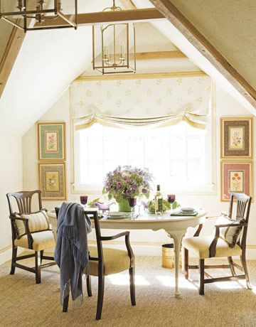 A French Fantasy Carriage house, House beautiful and Dining area
