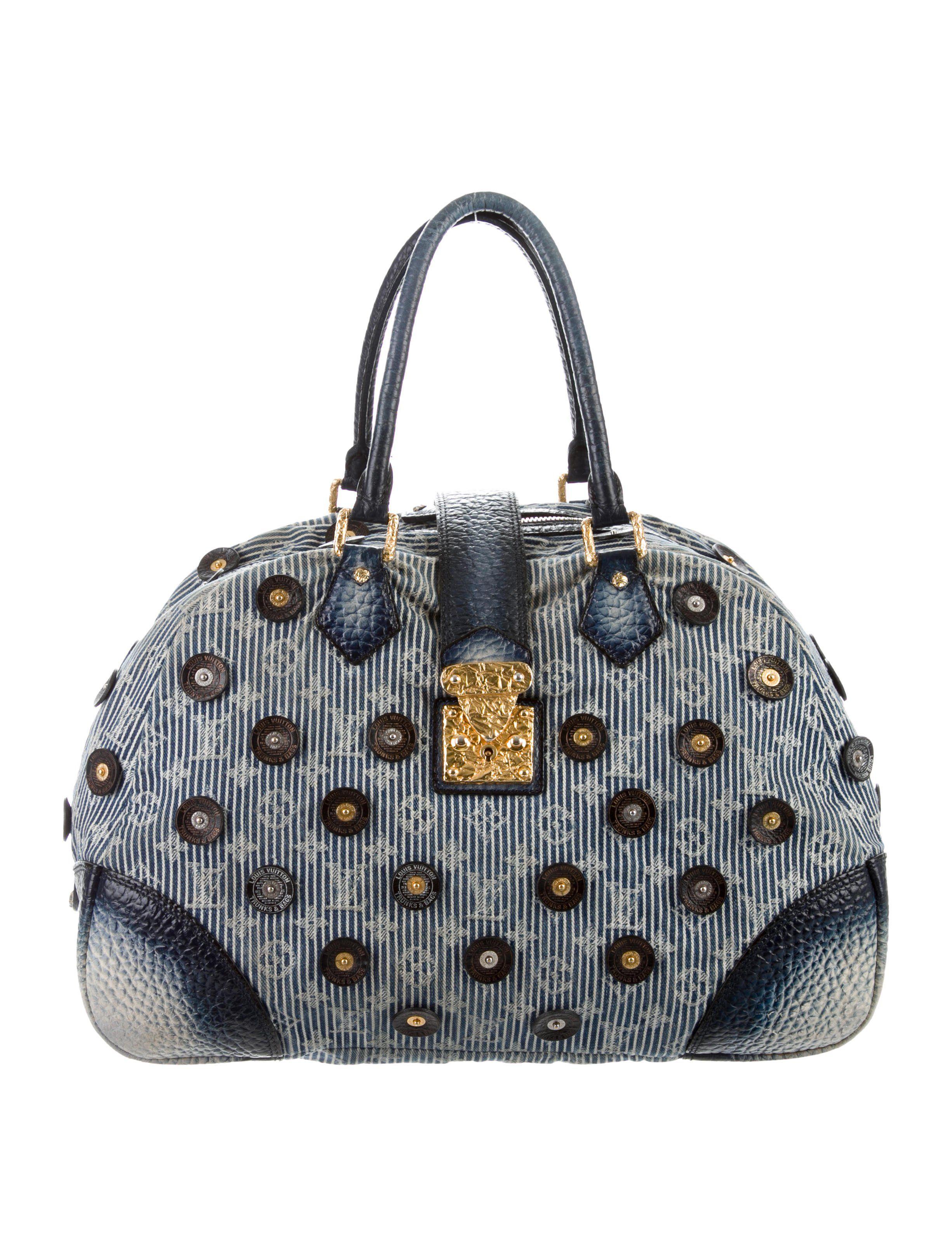 Denim Polka Dot Trunks Bowly Bag | Bags, Denim polka dot