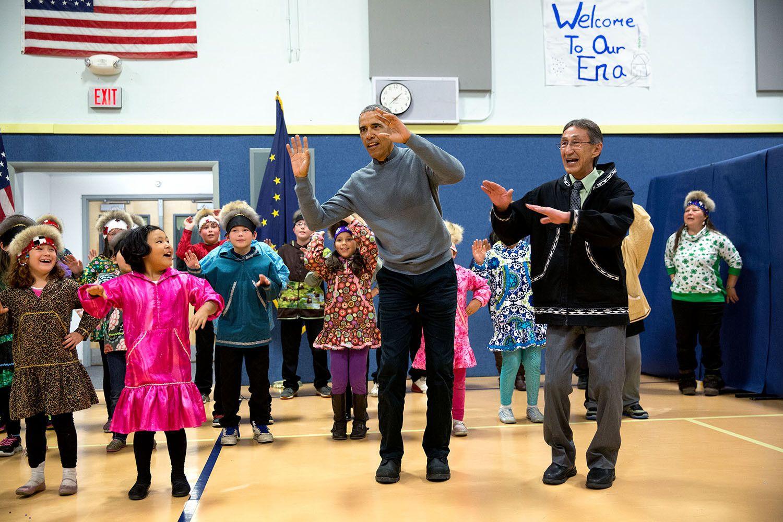 Obama attends a dance