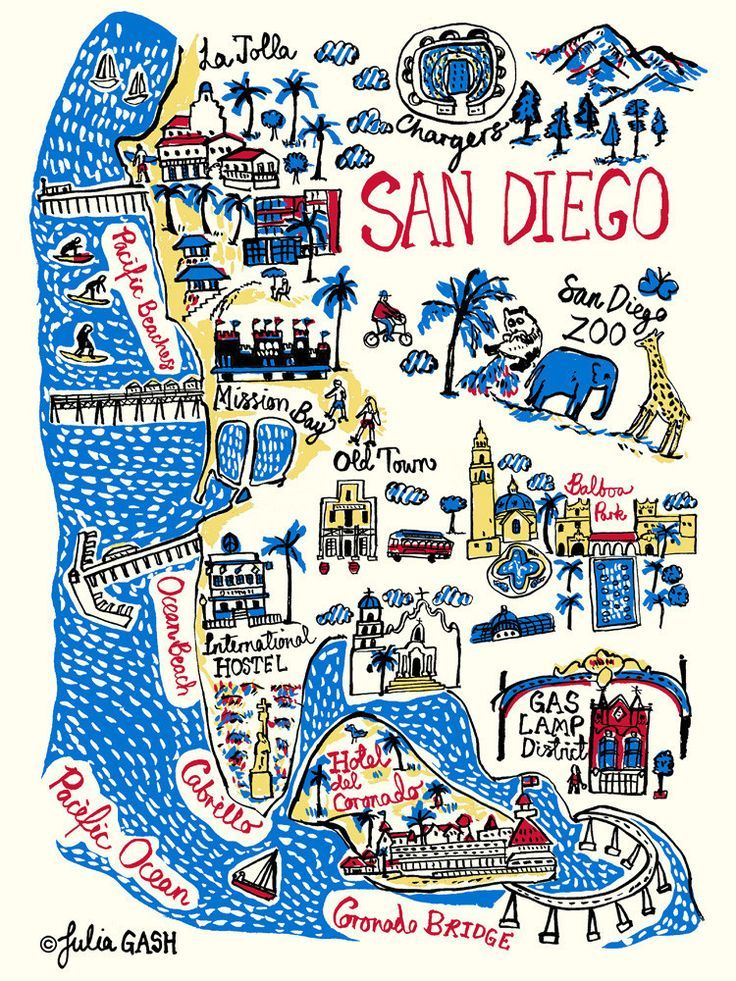 San Diego Art Print by Julia Gash | King & McGaw