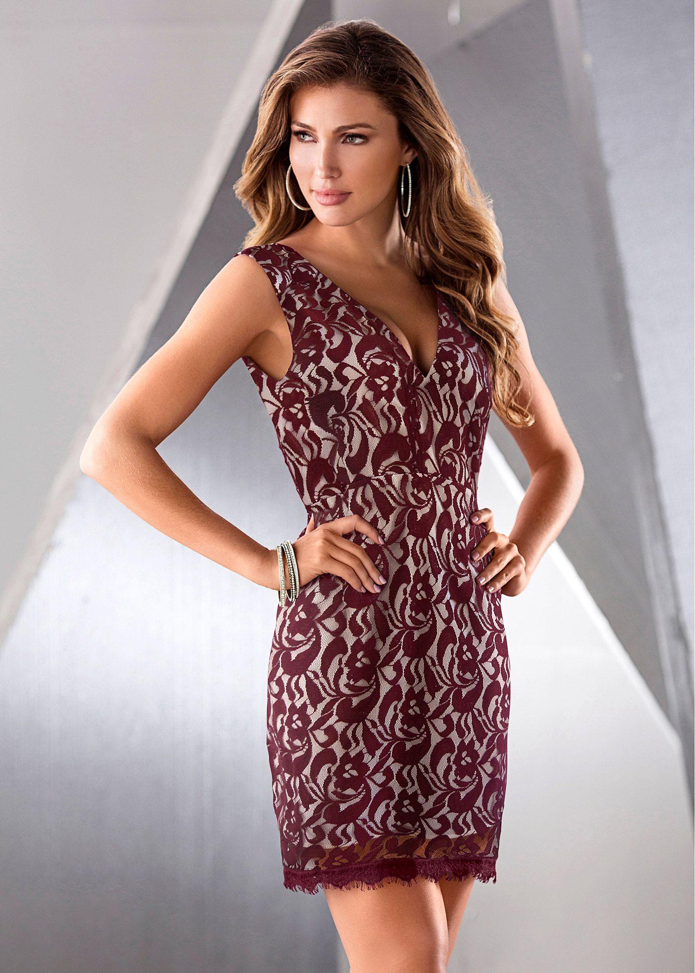 5c7d1e595c Vestido tubinho em renda amora encomendar agora na loja on-line bonprix.de  R  89