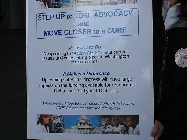Step Up to JDRF Advocacy and Move Closer to a Cure (Annapolis Walk, Spring '08)