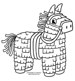 Coloring Page Tuesday Cinco De Mayo Pinata Cinco De Mayo