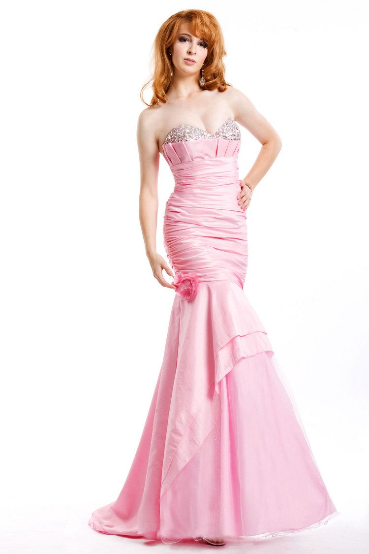 mermaid,pink,prom dress | Prom time | Pinterest | Vestidos de noche ...