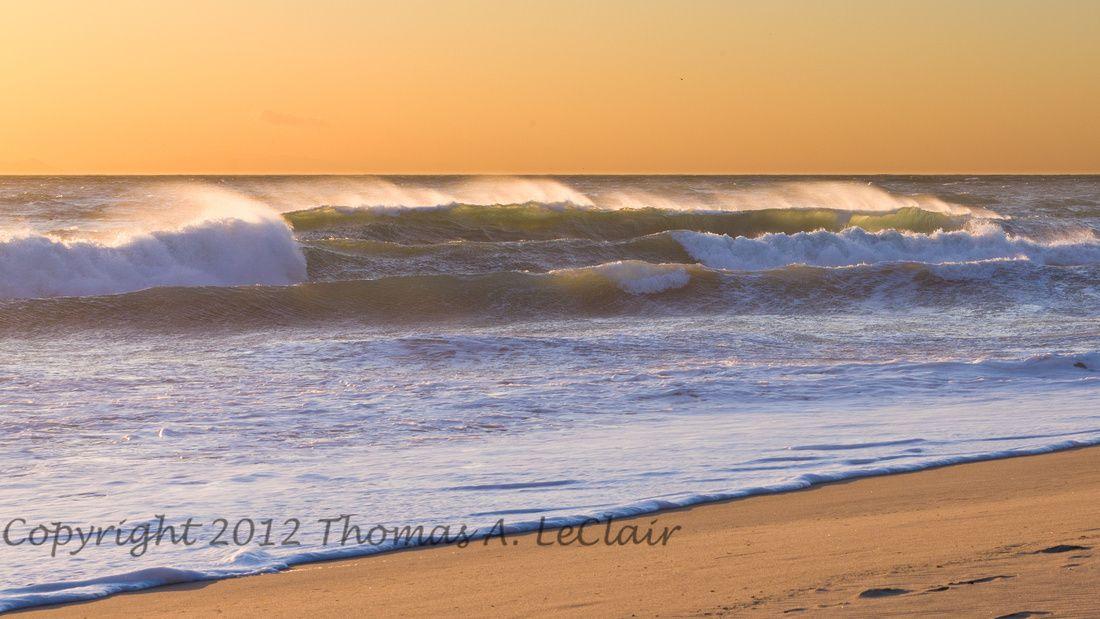 Sun set @ Pacific coast in Santa Monica Mountains