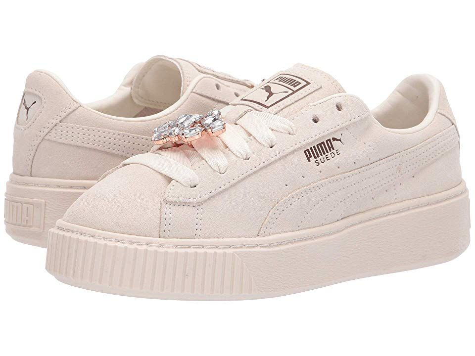 puma suede platform whisper white