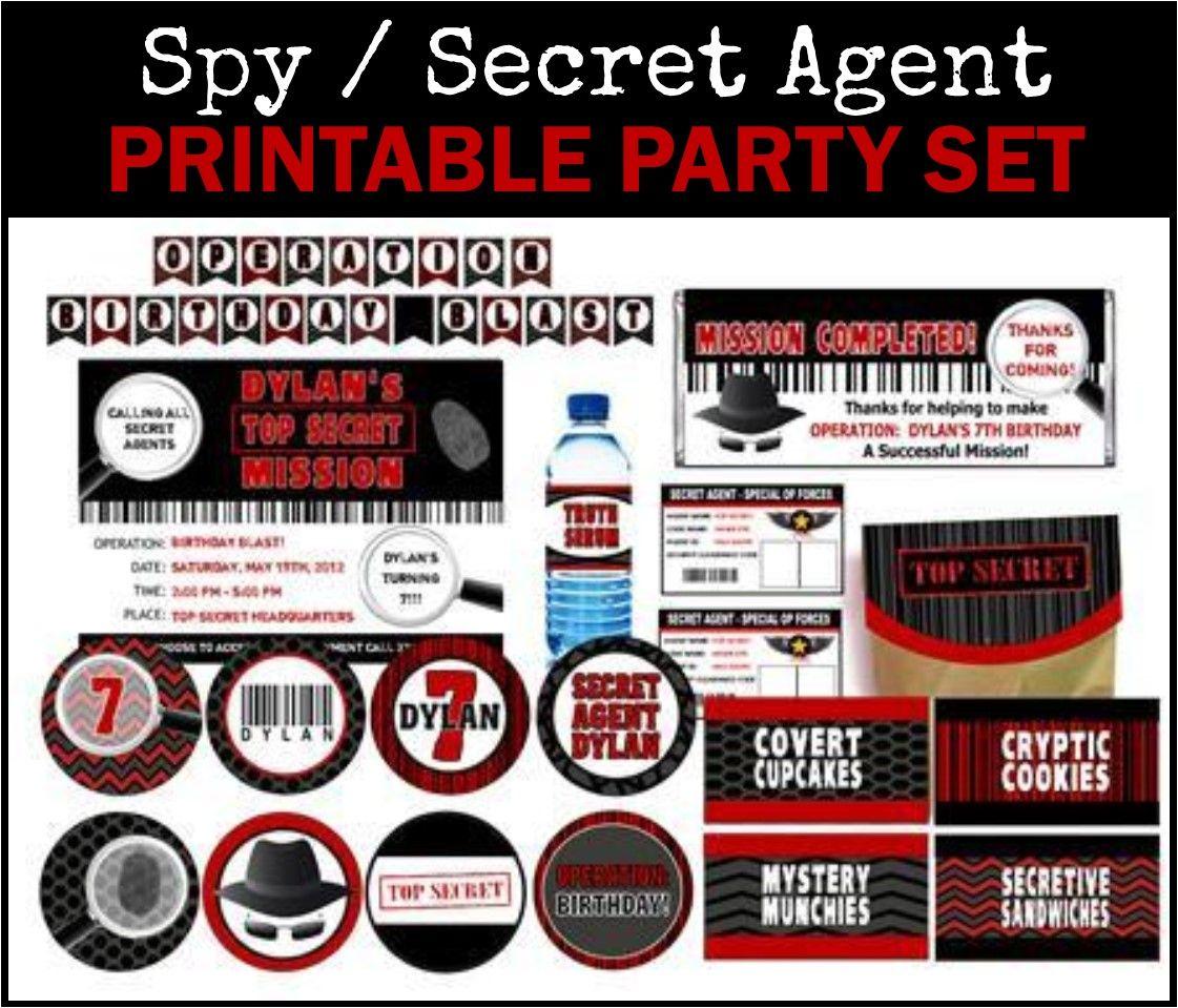 Printable Spy Treasure Hunt! Secret agent party, Spy