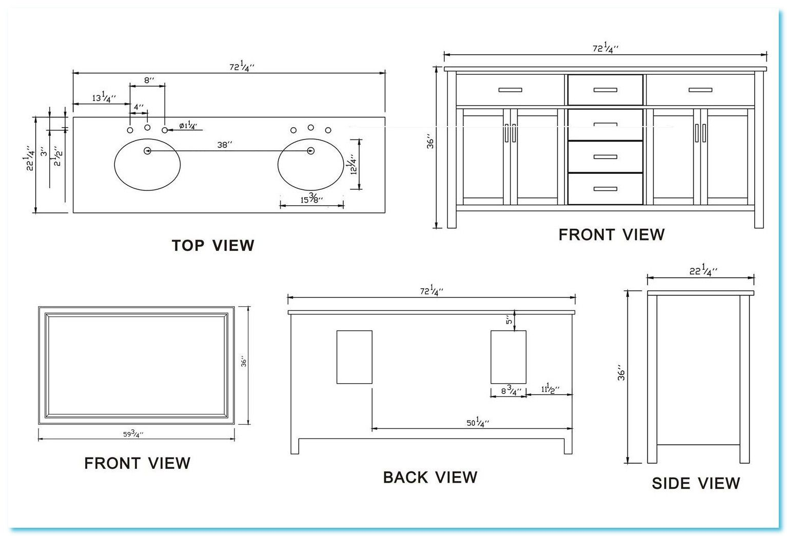 72 Reference Of Standard Kitchen Sink Cabinet Size In 2020 Bathroom Vanity Sizes Bathroom Design Small Small Bathroom Layout