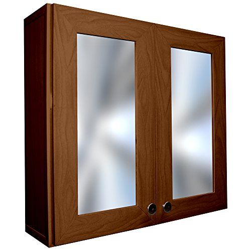 Rigid Vinyl Medicine Bathroom Cabinet, 2 Doors, (23 3/8 inch wide ...