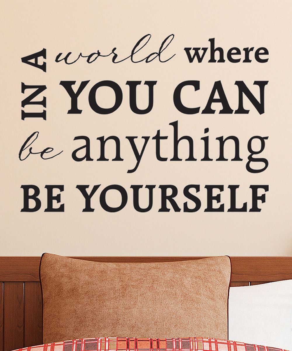 Look what i found on zulily ube yourselfu wall decal by wallquotes
