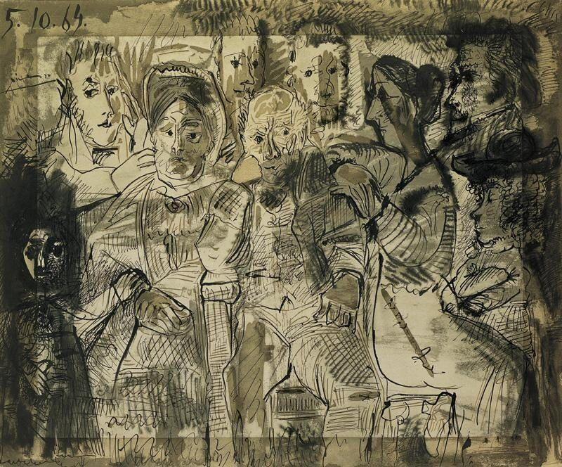 La Credenza Di Picasso : Pablo picasso 1964 tableau de famille pinterest
