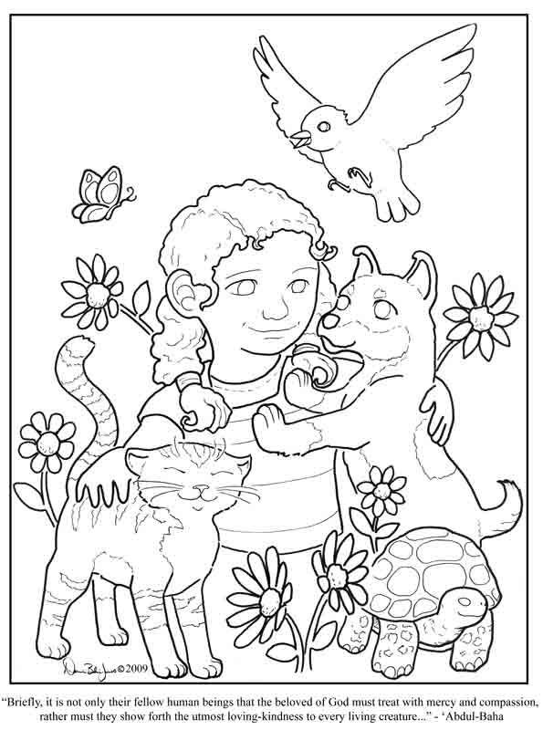 Kindness - Coloring Page | Windsor Academy Character ...