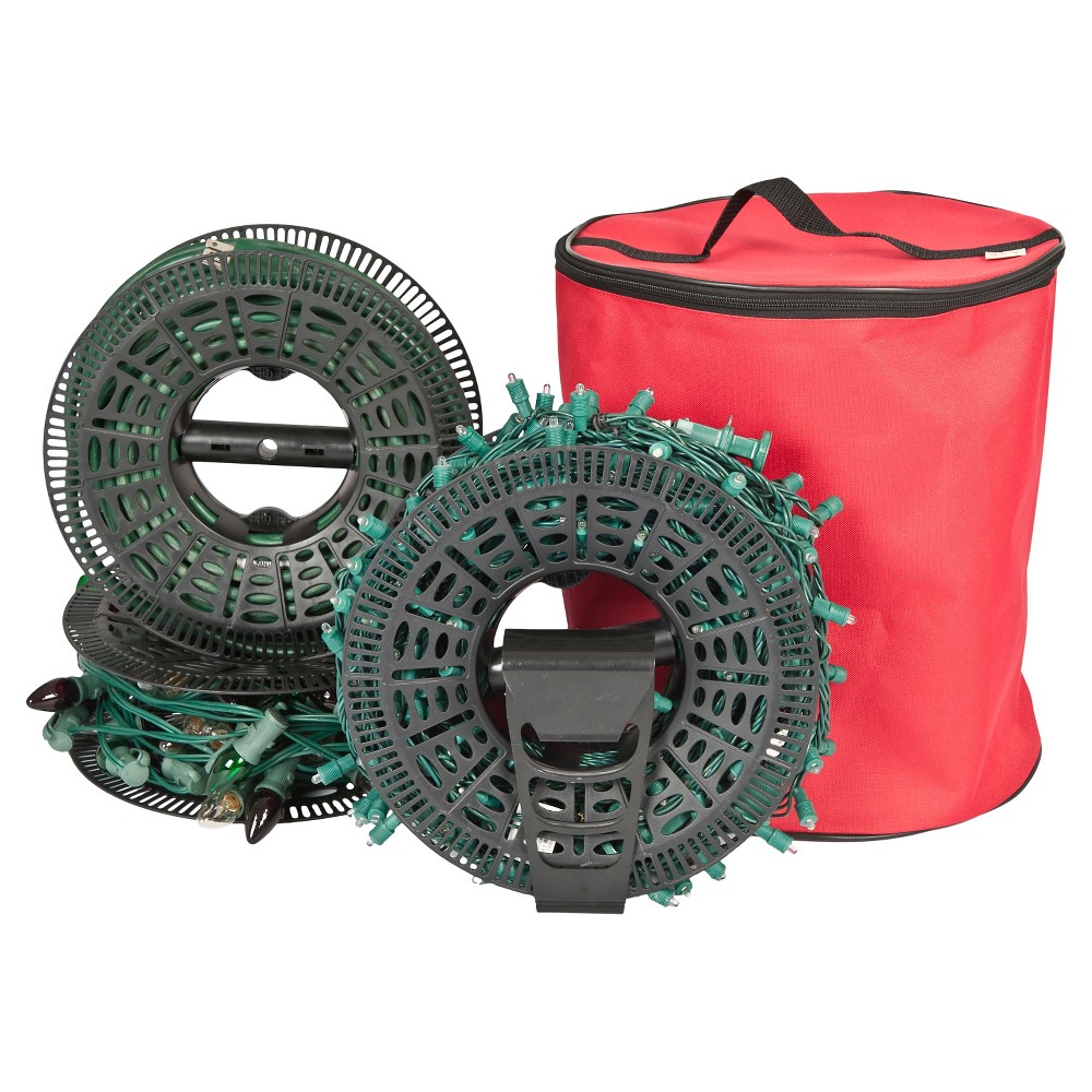 Treekeeper Santa S Bags Install And Store Light Storage With Reels Red Holiday Storage Decorative Storage Storage