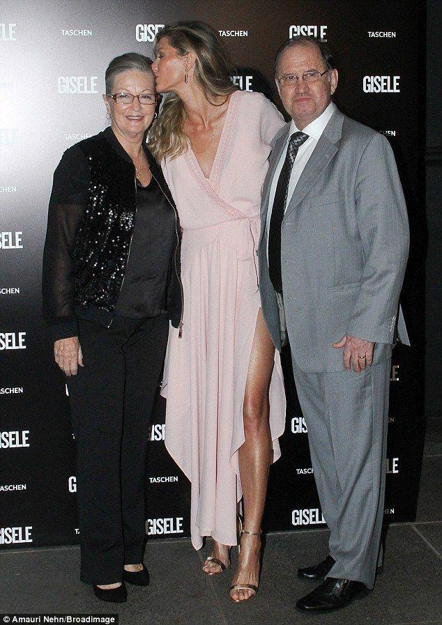 Gisele Bundchen showcases supermodel legs in split dress ...  Gisele