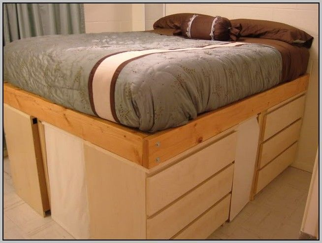 Ikea Platform Bed Hack Loft Bed Frame Ikea Bed Queen