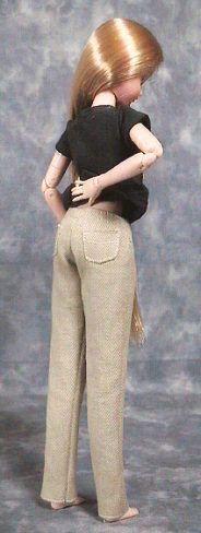 """vêtements faits à la main de la façon de rendre les pantalon slim """"Papupepo"""" poupée dress-up"""