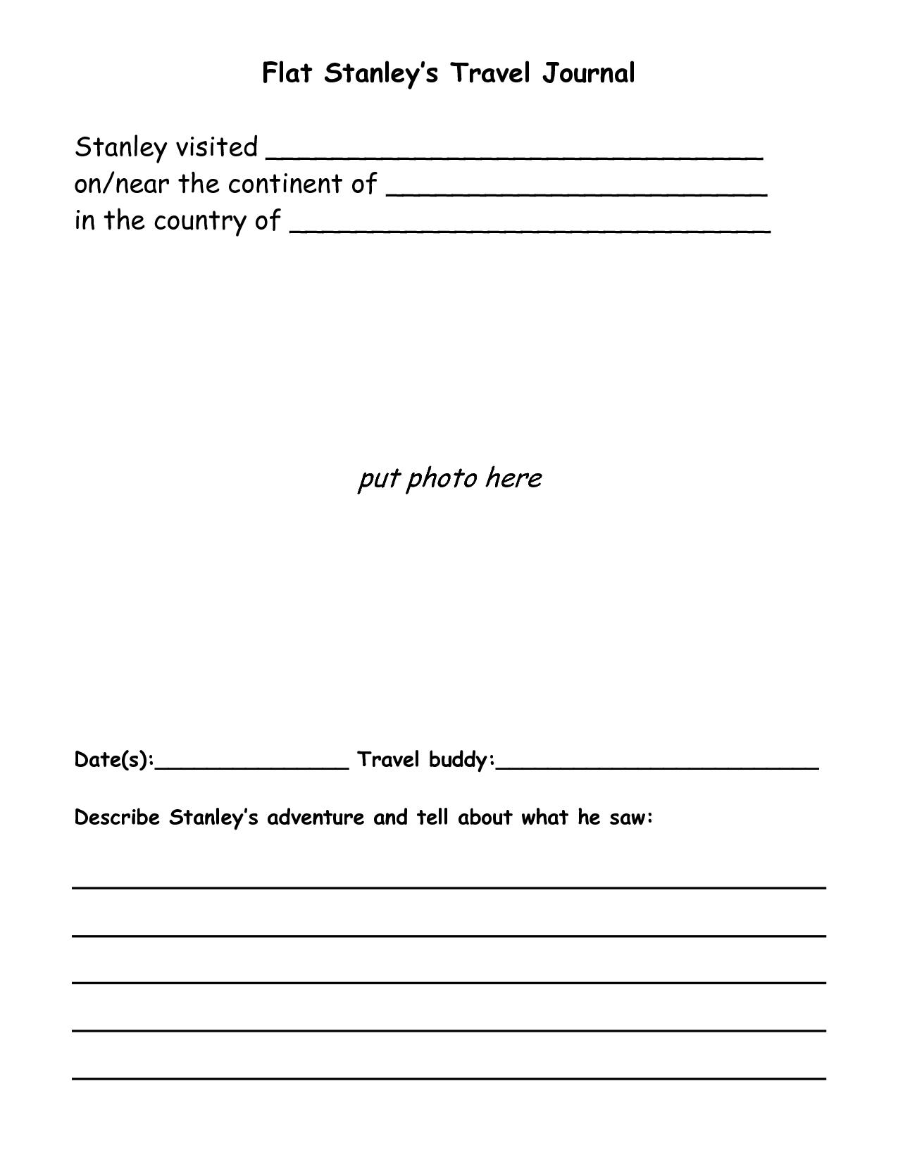 Flat Stanley S Travel Journal