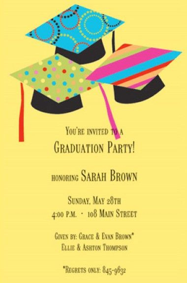 highschoolgraduationpartyideas there are various graduation party invitation - Graduation Party Invitation Ideas